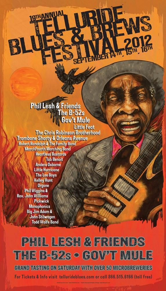 Telluride Blues & Brews Festival | 2012 Poster
