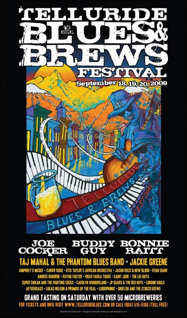Telluride Blues & Brews Festival   2009 Poster
