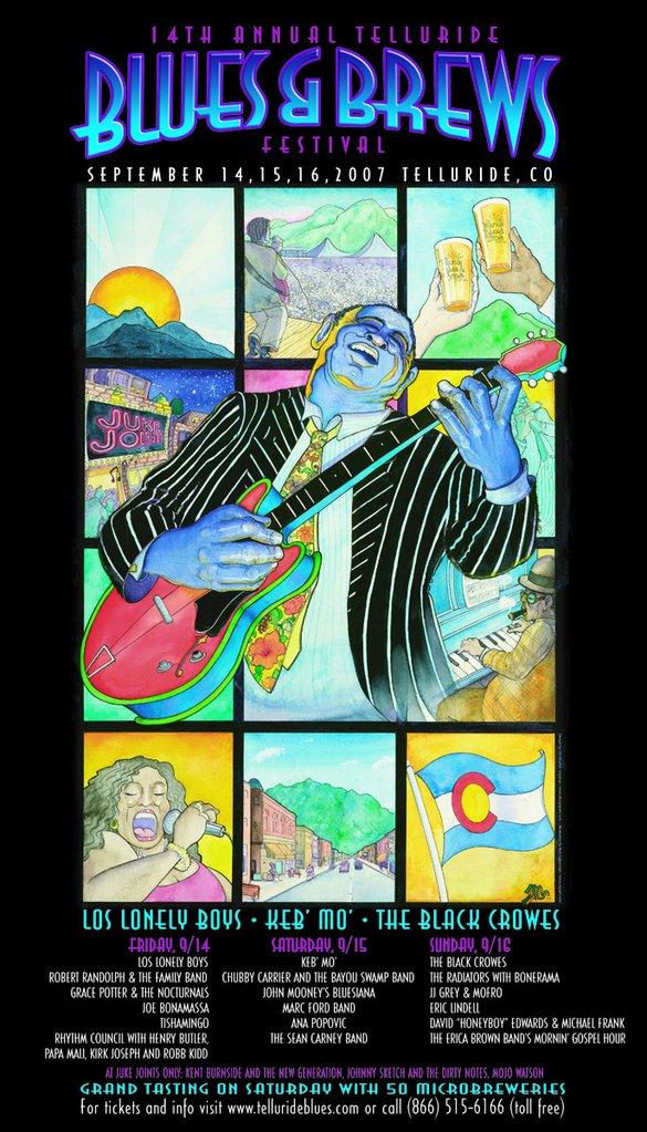 Telluride Blues & Brews Festival | 2007 Poster