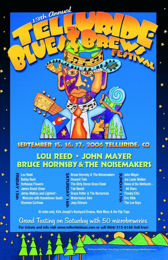 Telluride Blues & Brews Festival   2006 Poster