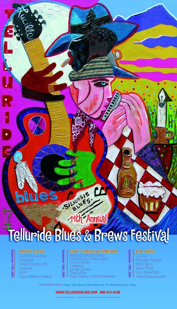 Telluride Blues & Brews Festival   2004 Poster