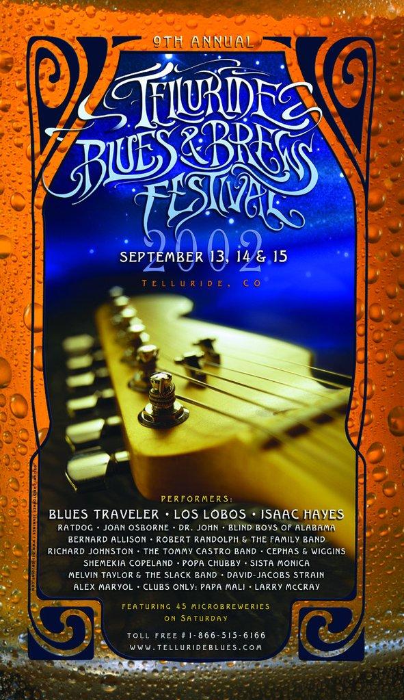 Telluride Blues & Brews Festival | 2002 Poster
