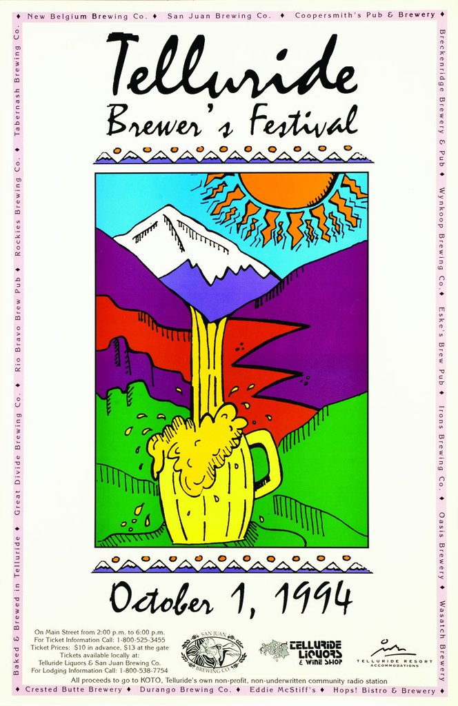 Telluride Blues & Brews Festival   1994 Poster