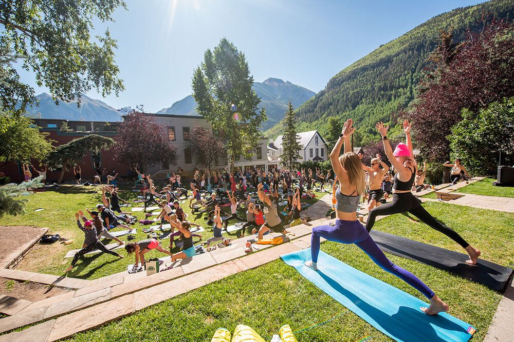 <p><strong>Yoga</strong>Guided by a professional yoga instructor, enjoy a fluid yoga flow at the free Yoga Sessions. <a href=/yoga-sessions>More →</a></p>