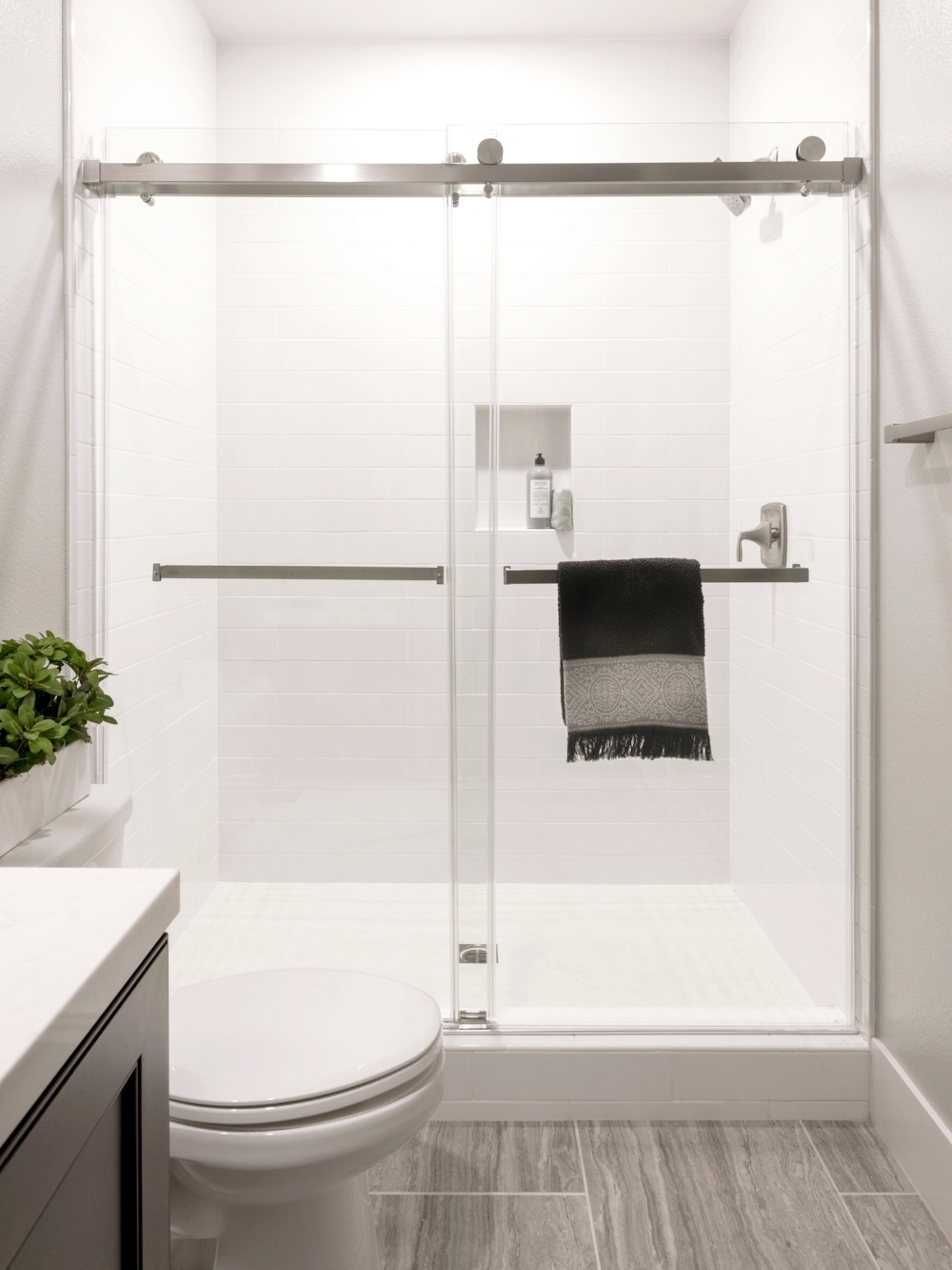 Top Roller Frameless Shower Doors -