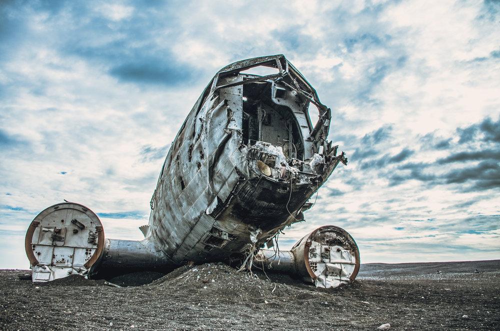 DC-3 lėktuvo nuolaužos, Islandija