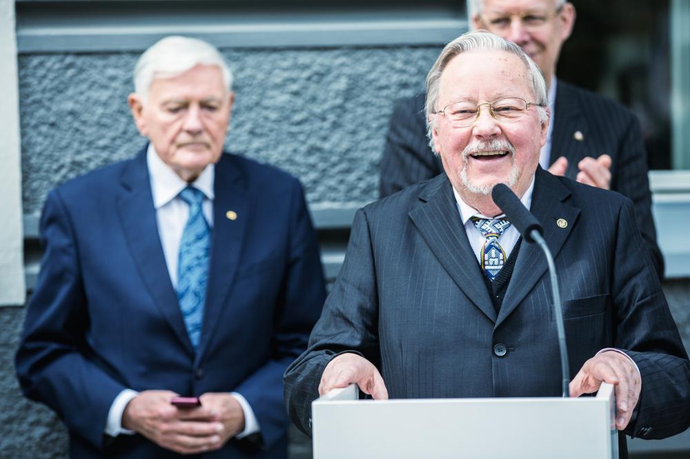 Prof. Vytautas Landsbergis ir prezidentas Valdas Adamkus