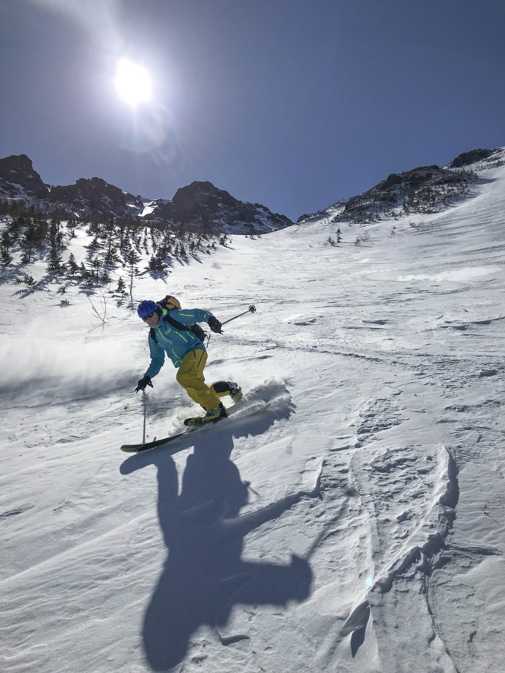 Skiing Lower Snowfields