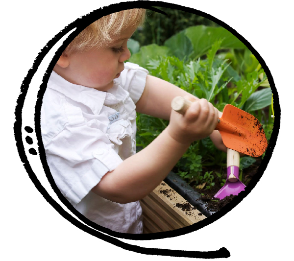 Gardening class with art activity for toddlers and preschoolers from 2 years old to 4 years old in East York, Toronto