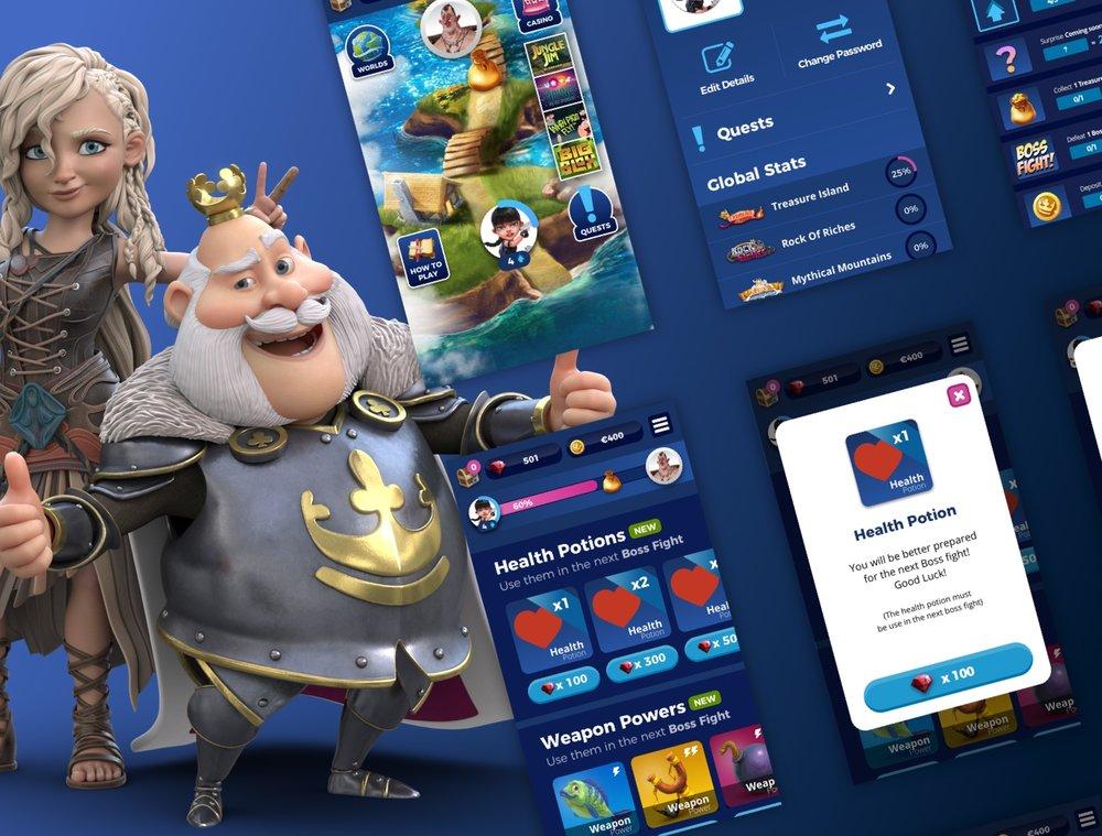 Casino Heroes 3 - UX / UI Designer
