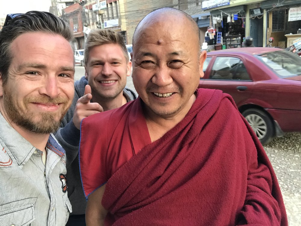 Justin & Chris hanging out with the locals in Nepal