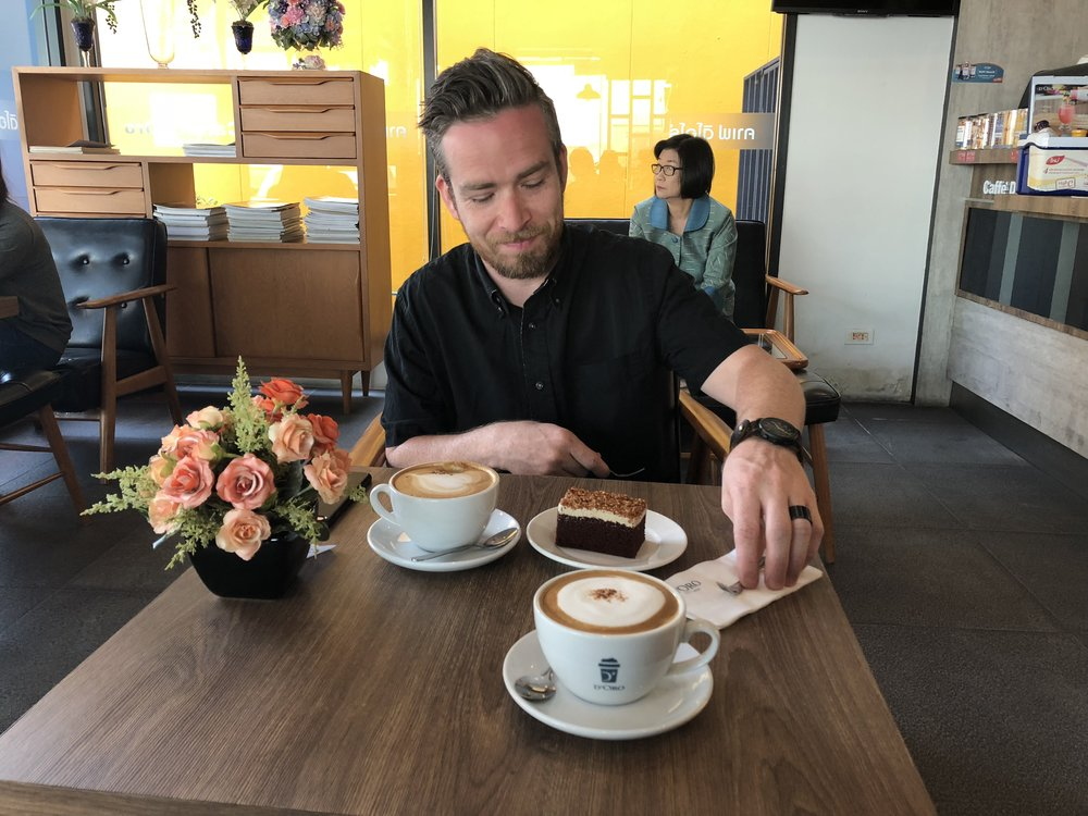 Enjoying a real cup of coffee in Southeast Asia