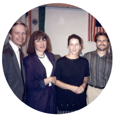 1994 Pastor Carl & Sherry Johnson with Michael & Terrill Esposito
