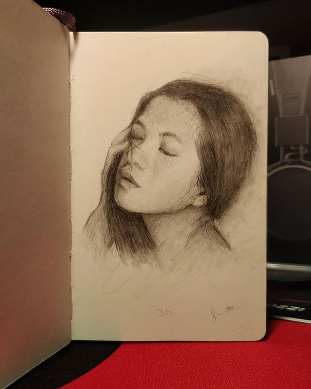 Three hour sketch of @hapham_art  Thanks for sending me amazing reference photos! 💙