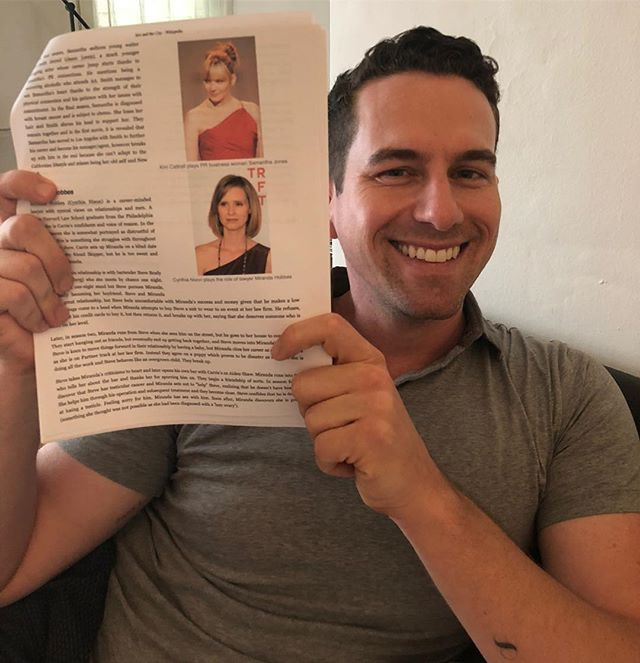 @rightordoyle, a TRUE professional (pictured here with his SATC Wikipedia printouts) joined me to break Sex and the City 4: Lily Fully Loaded, which you can listen to now wherever you consume podcasts. This action tragicomedy has it all: Dubai, Aidan, Lindsay Lohan, Charlotte with a VERY chic pixie cut, ISIS, Lala Kent, Sinbad and more! It's a very fitting end to the franchise if I do say so myself.