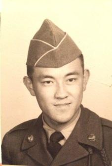 Sandy's military portrait
