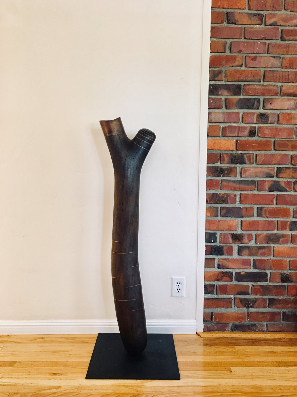 Ann used a fallen tree branch as the foundation of this piece
