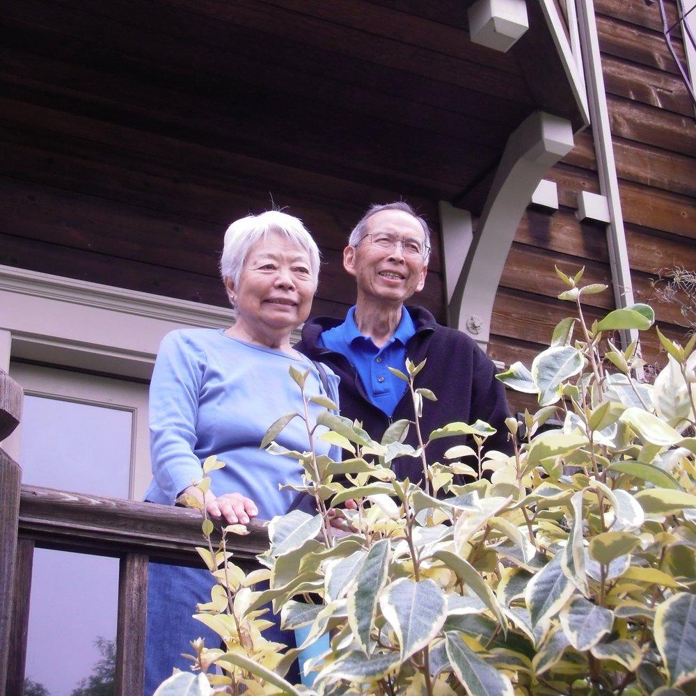 Ann Sato and her husband, Konito