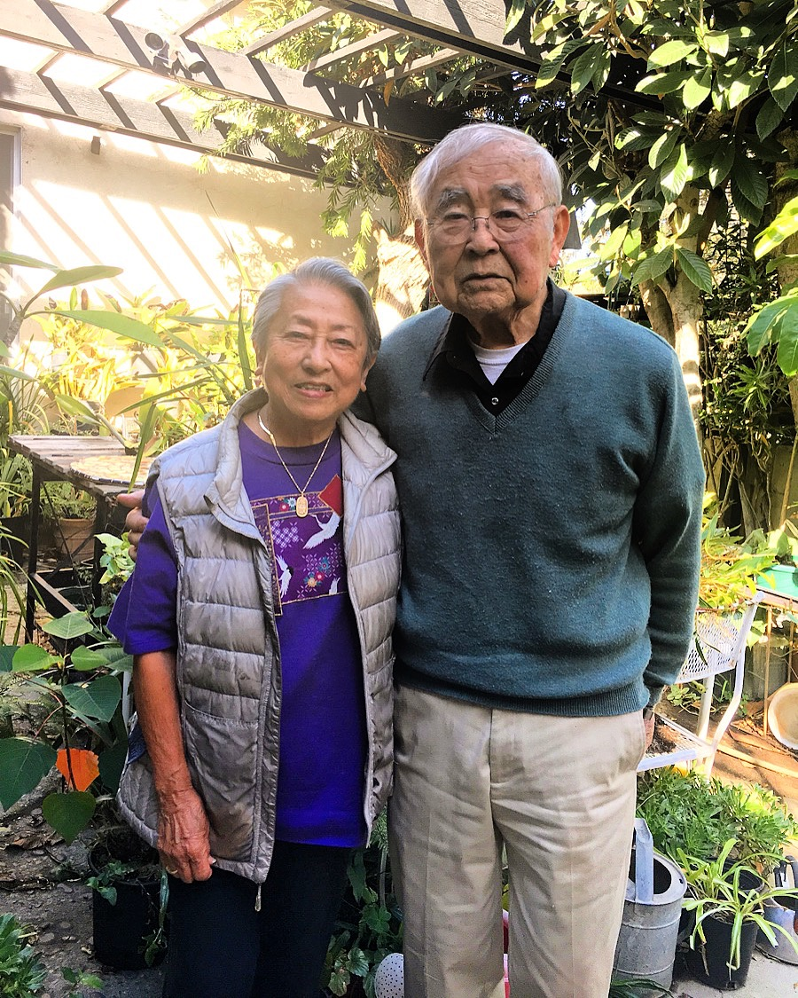 Grace and Jack Fujimoto at their home in Century City.