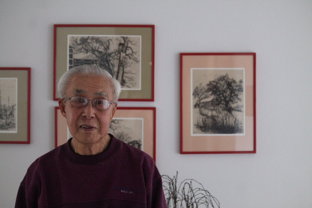 Tom Inada in his El Cerrito home of over 60 years.