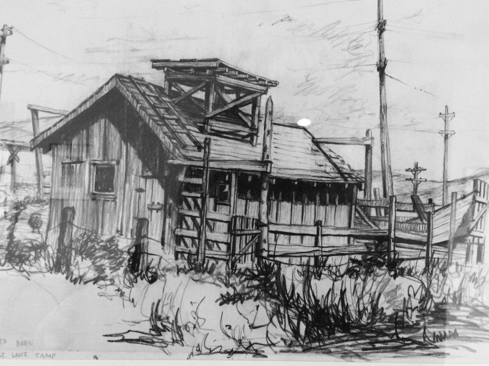 Tom's sketch of Tule Lake.
