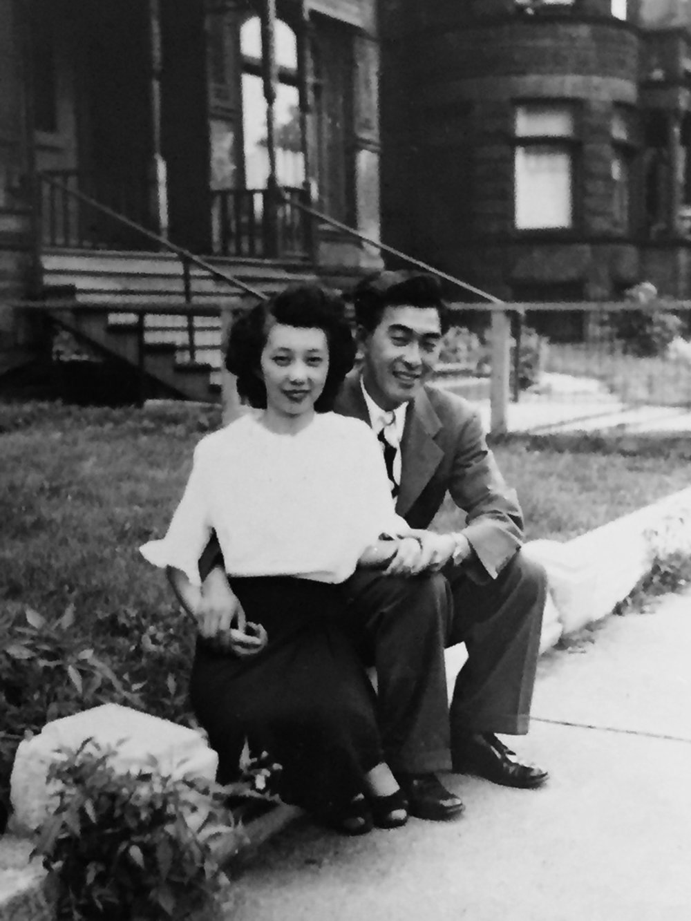 Tom and Yoshiko in Chicago.