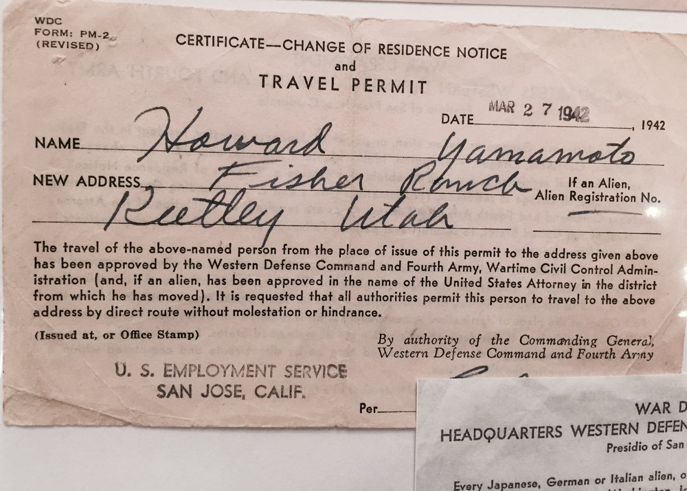 Howard's travel permit to leave California