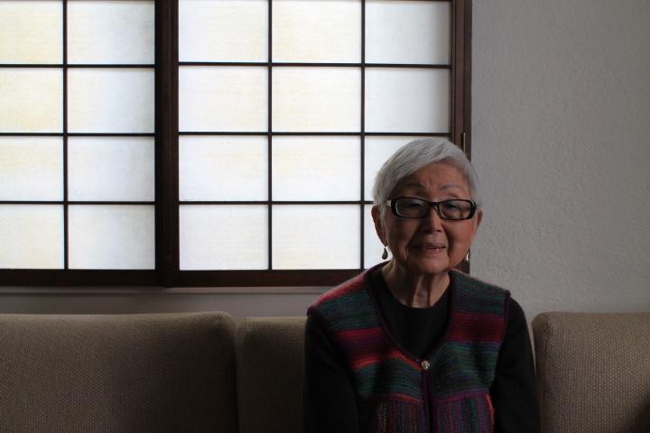 Fusae Yoshida at the Oakland Buddhist Church