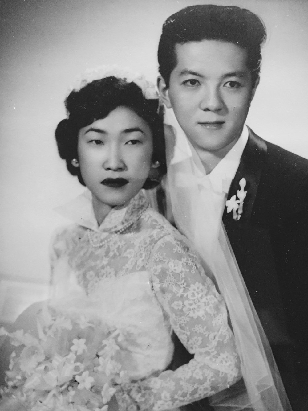 Betty and Art on their wedding day