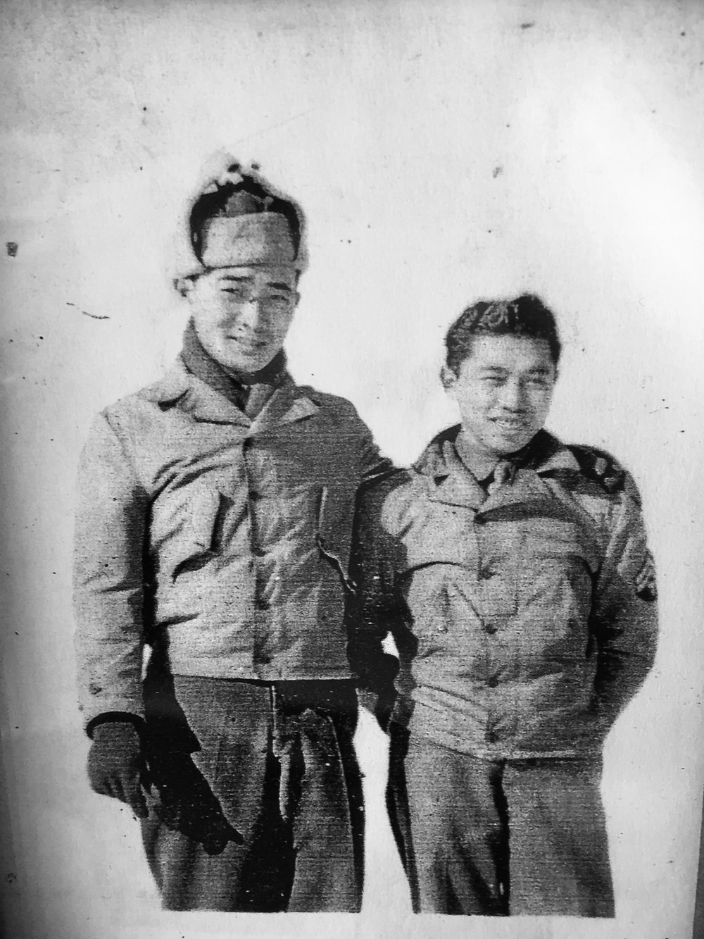 Robert (right), and his brother