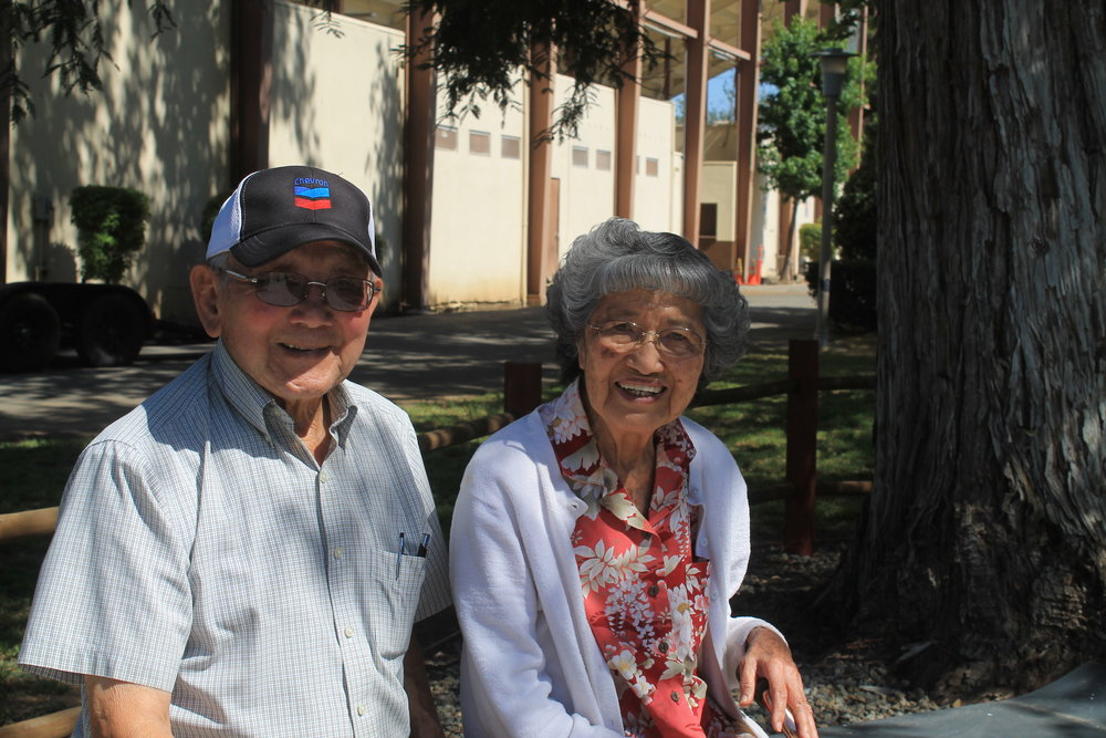Sherman and June at the Merced Assembly Center Memorial