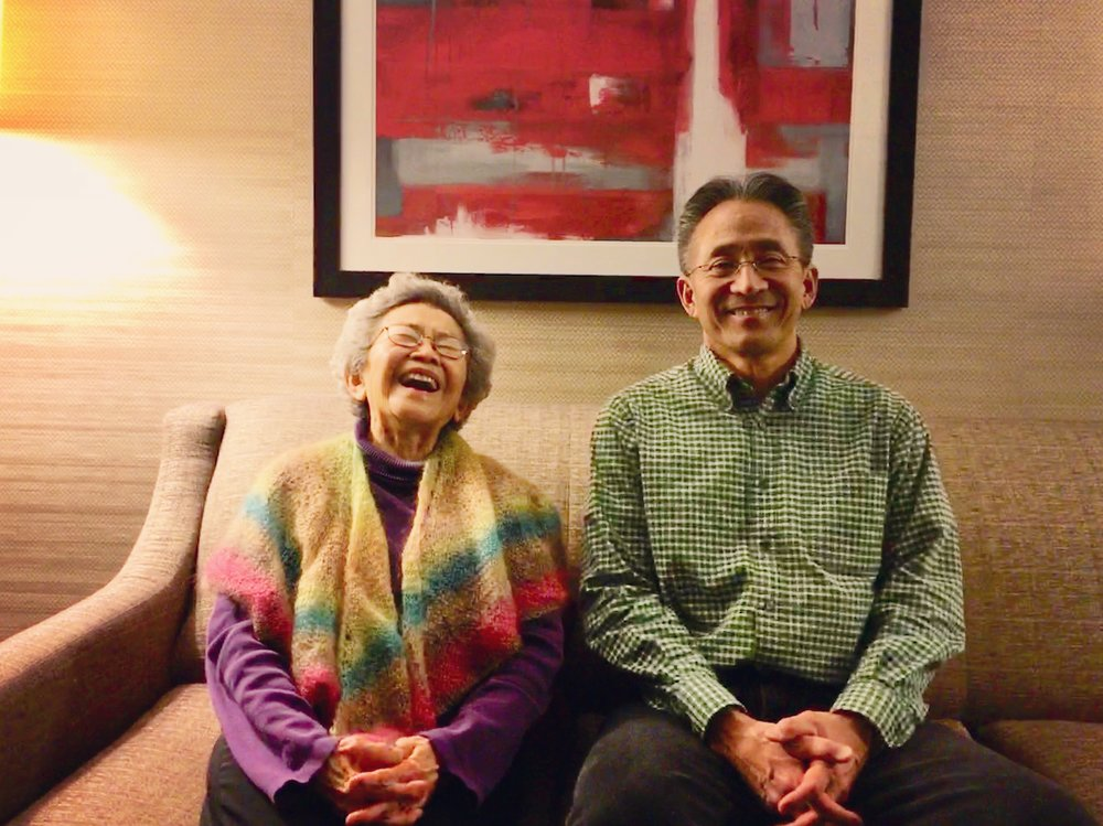 Alice and Paul Takemoto after a screening of  Relocation, Arkansas  at the Philadelphia Asian American Film Festival