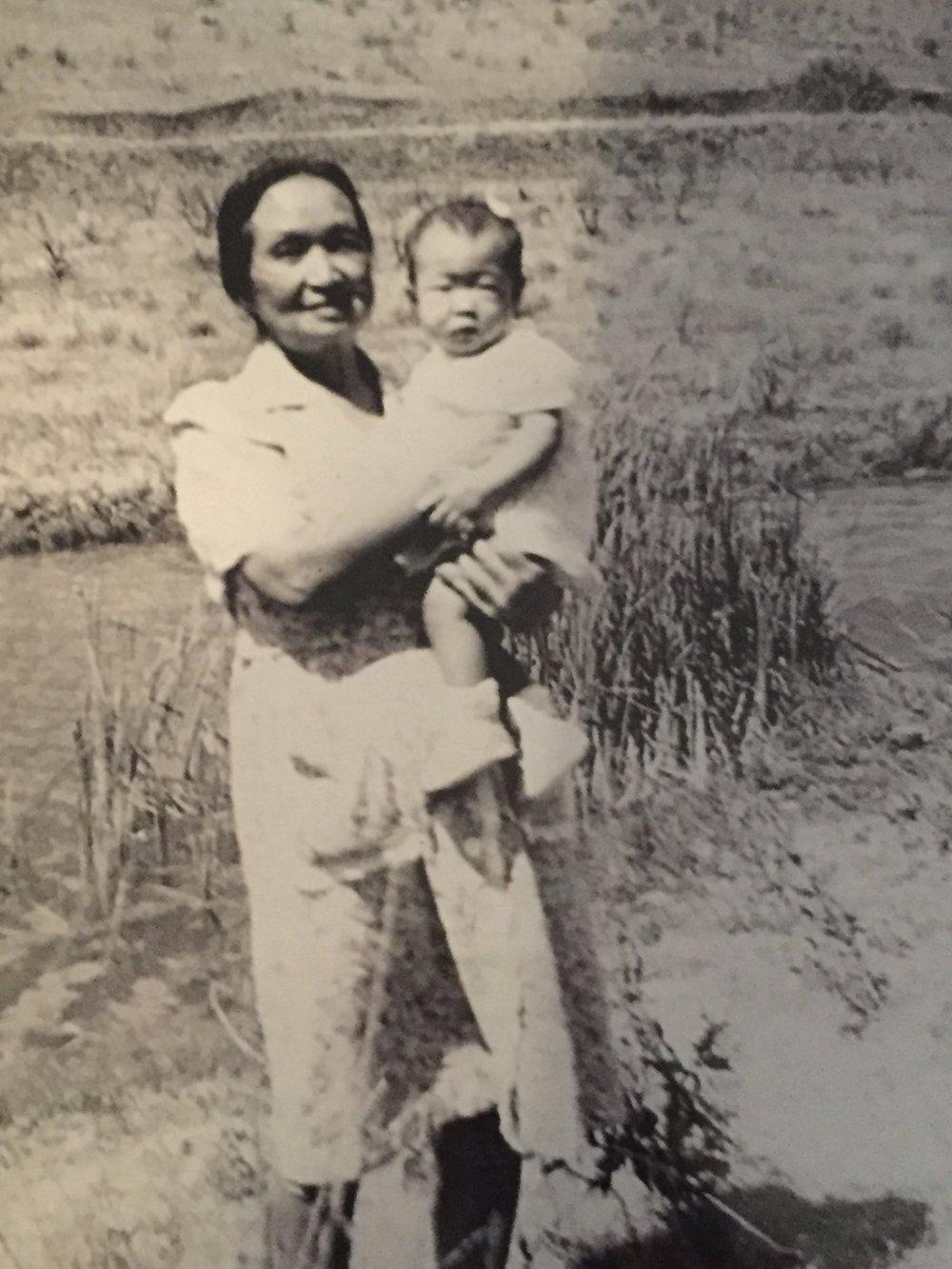 Teresa and her grandmother, Kita Takagi