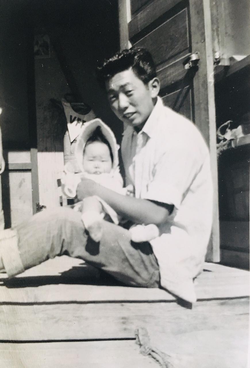 Kazuki and his baby cousin