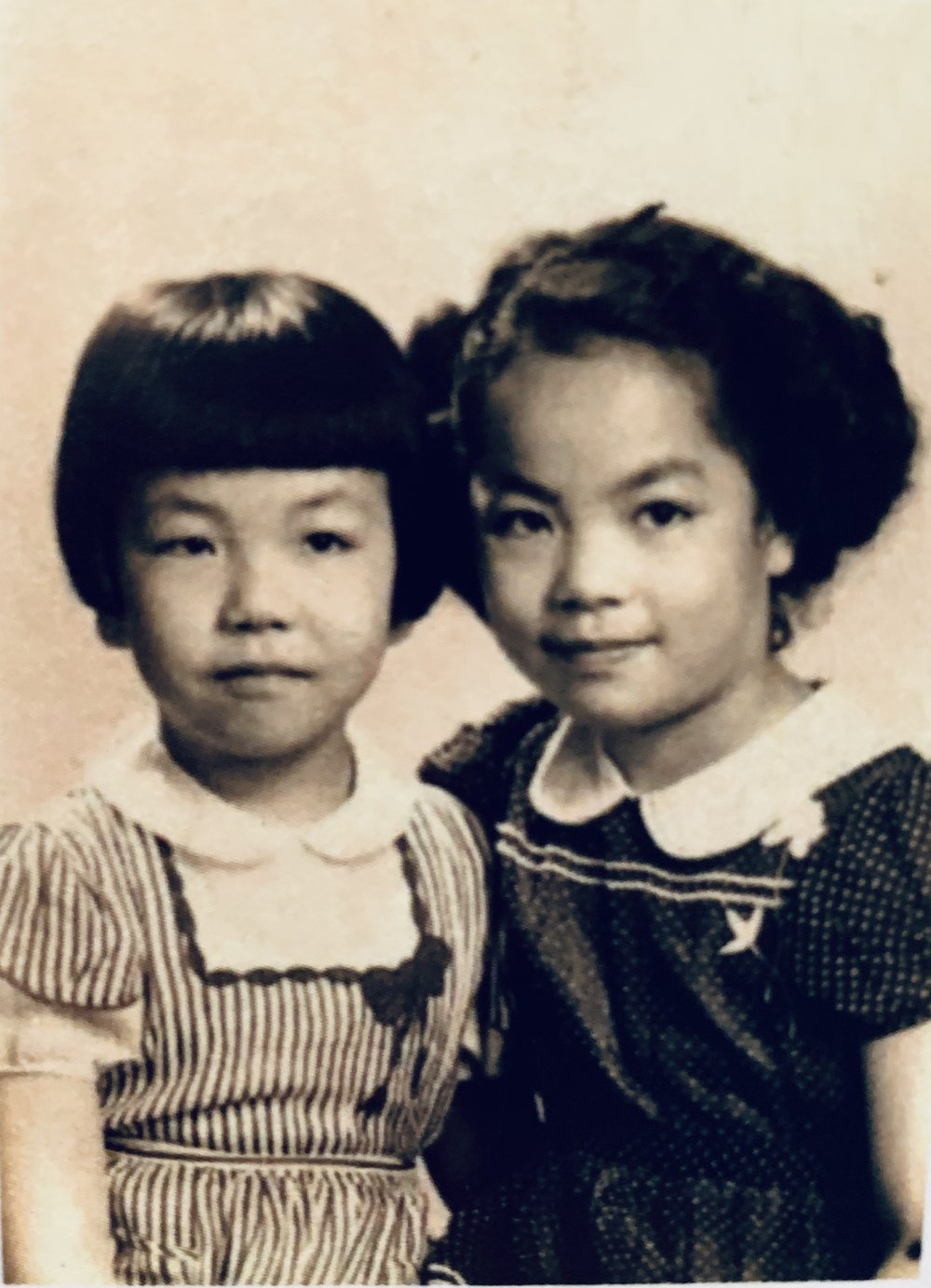 Aiko (left) and her sister, Hazel