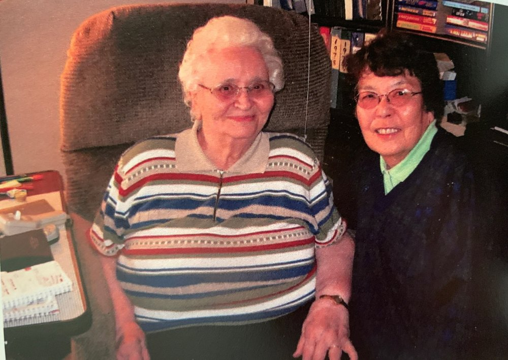 Velora and Aiko reconnect after over fifty years in 2002