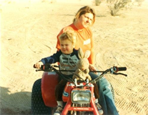 Kevie White with son Allen 1983.jpg