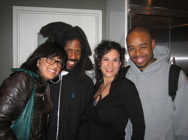 One of the coolest moments of my life made possible by the Late Great JDilla. His brother, Illa J and his main man Frank Nitt and I had been collaborating on some ideas for album art work. They were making music and moving in and out with some real big names in the industry.  Then there is Jeanette, friendship through art and collaboration. Standing between Murs and Terrance Martin ,  just really cool.