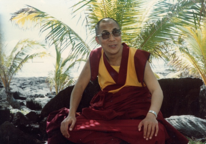 HH Dalai Lama at Kamoamoa, Puna Coast, Hawaii 1980