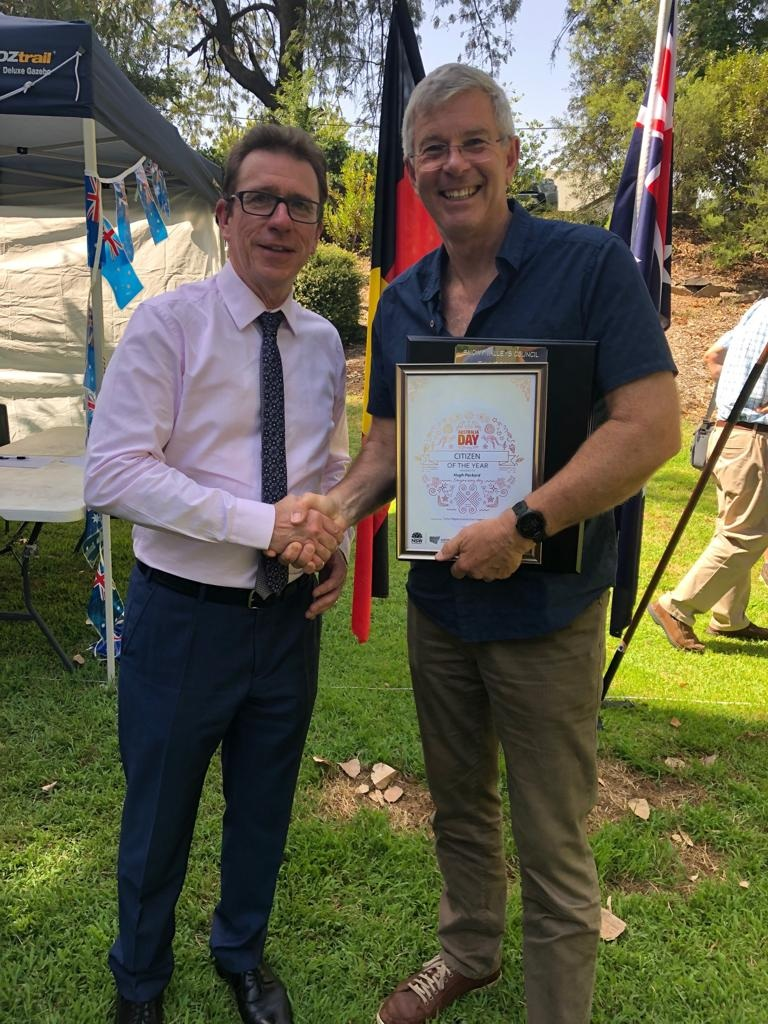 Congratulations to Tumut Citizen of the Year for 2019 Hugh Packard.