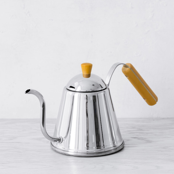 Wood-Handled Pouring Kettle