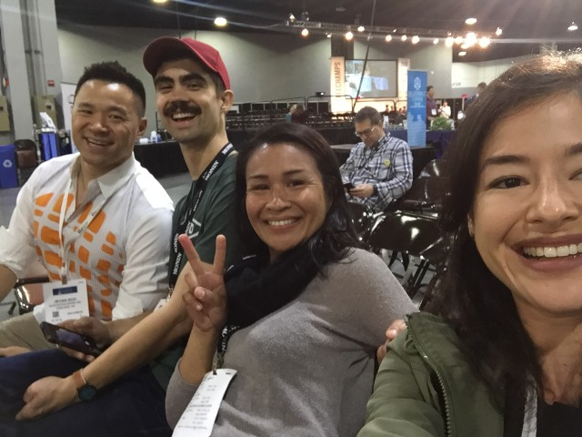 Blue Bottle team members and 2016 U.S. Barista Championship competitor Kelly Sanchez