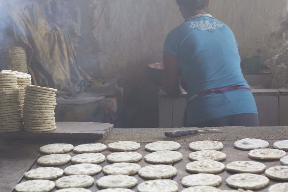 Lunch for workers on Aida's family's farms