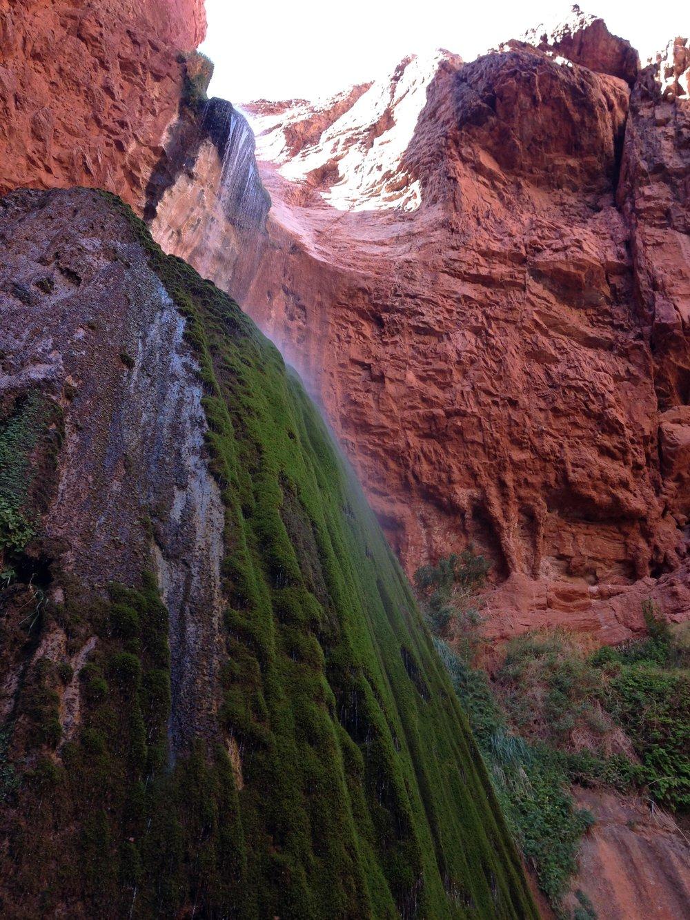 Ribbon Falls - a worthy detour