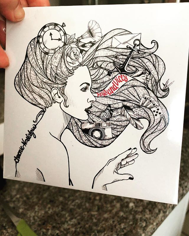 It's official! Our album was delivered today! The album goes live on iTunes, Spotify, Amazon music, EVERYWHERE on March 15th- same day of our album release show at Old Ironsides in Sacramento / show starts at 9pm! Get your own copy of this album at the show for those of you that still like hardcopy album artwork to show off in your car😁 #keysandvices #chronicnostalgia #newmusic #albumrelease #cd #albumartwork