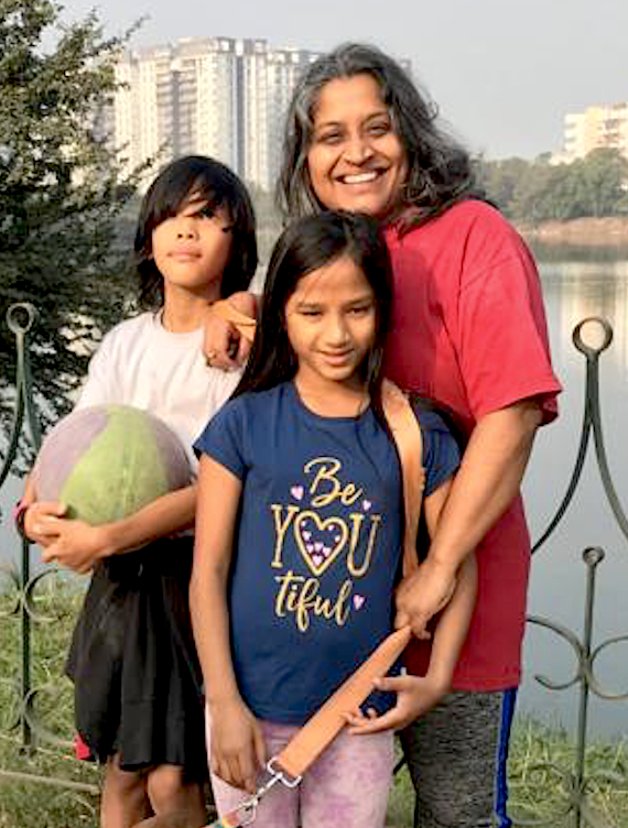 I think it all starts when we are kids. We feel we are part of a larger community and therefore we don't feel pressured to assert ourselves in the different stages of lives. - Priya Ramasubban, producer, writer and director and her kids