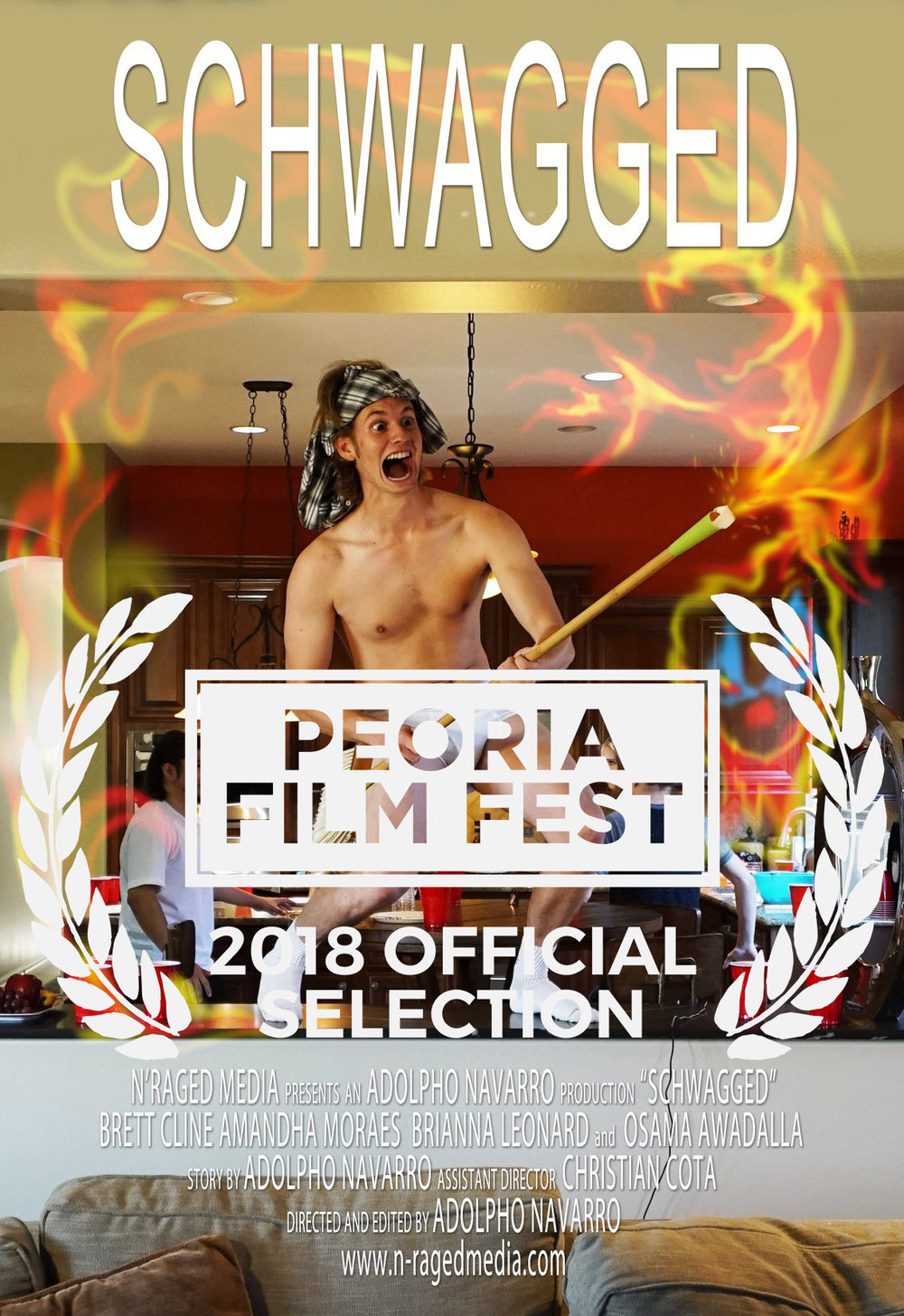 1st Place Film - SchwaggedIFP Beat The Clock 48 Hour Film Challenge 20181st Place Film - Audience Favorite - Best Director - Adolpho Navarro - Best Editor - Adolpho Navarro - Best Cinematography - Best Trailer - Best use of prop - Fork Best Art Direction