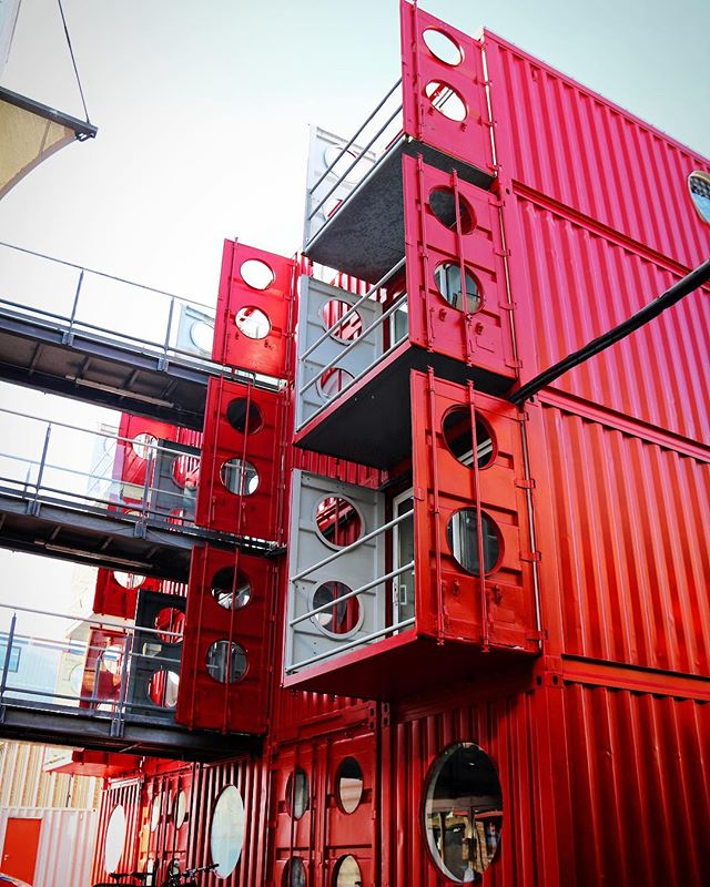 Container City 1 balcony detail, London. The building is our first container project, competed in 2001
