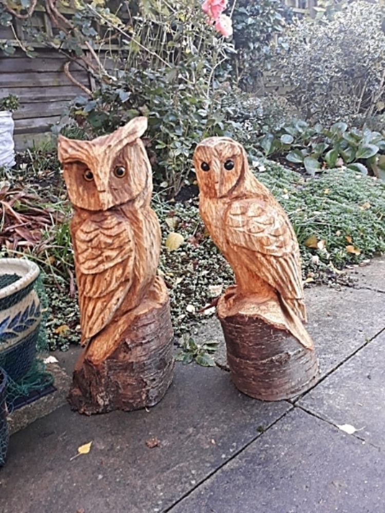 Chainsaw carvings u2014 b&s fencing
