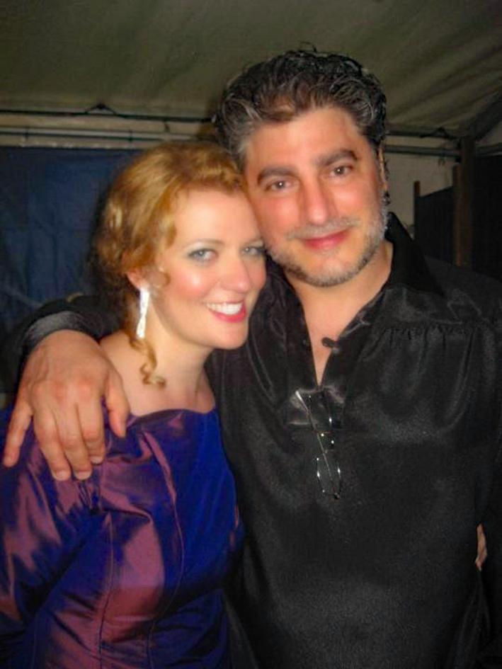 Aile Asszonyi and José Cura (after their Saaremaa Opera Days Gala Concert)